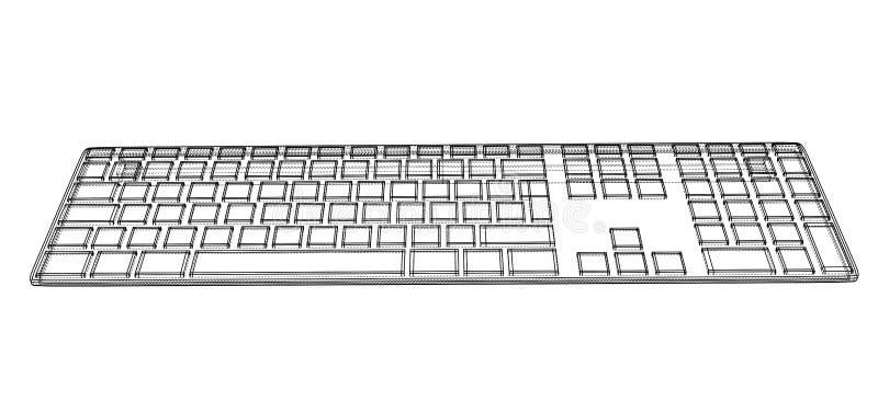Contour de clavier d'ordinateur illustration de vecteur