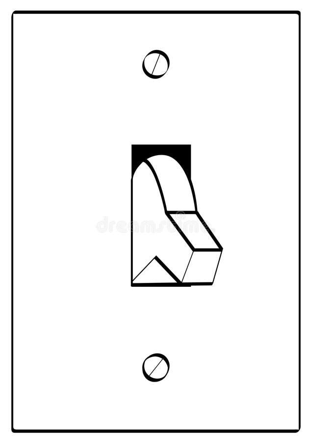 Contour de commutateur léger illustration de vecteur