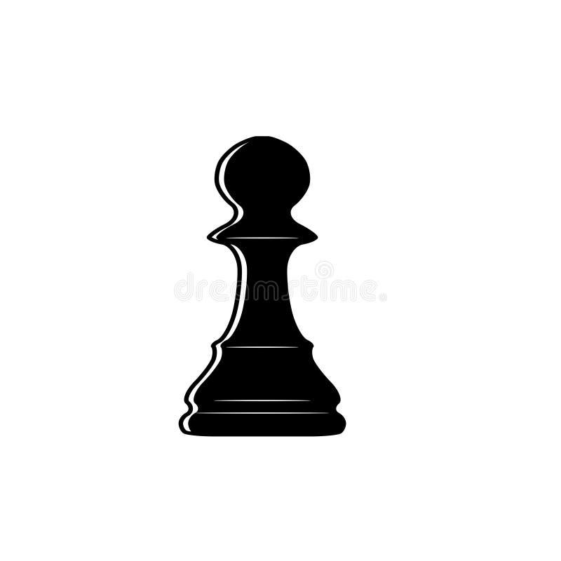 Contour de gage d'échecs illustration libre de droits