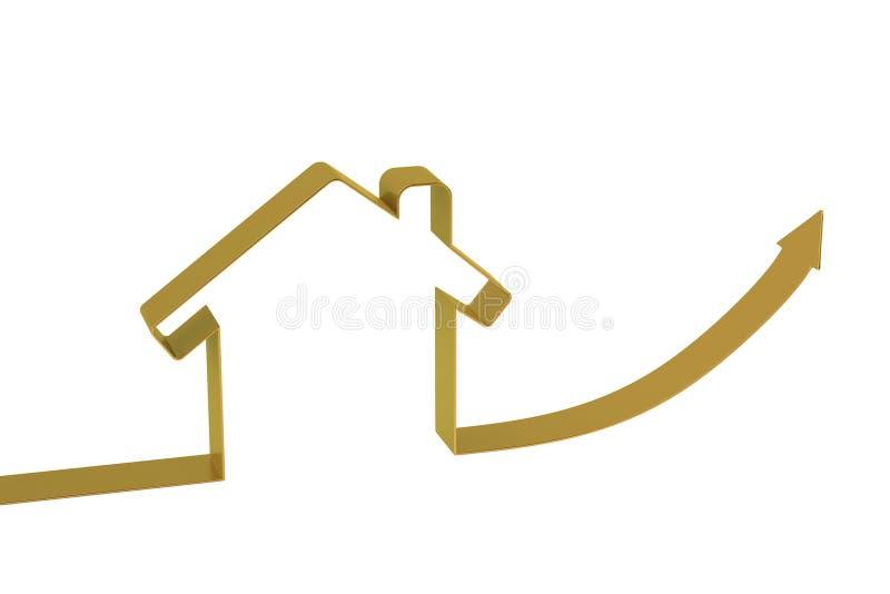 Download Contour De Maison De Flèche D'or, Illustration 3D Illustration Stock - Illustration du pertinent, économie: 87705260