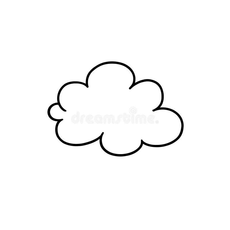 Contour de nuage illustration de vecteur