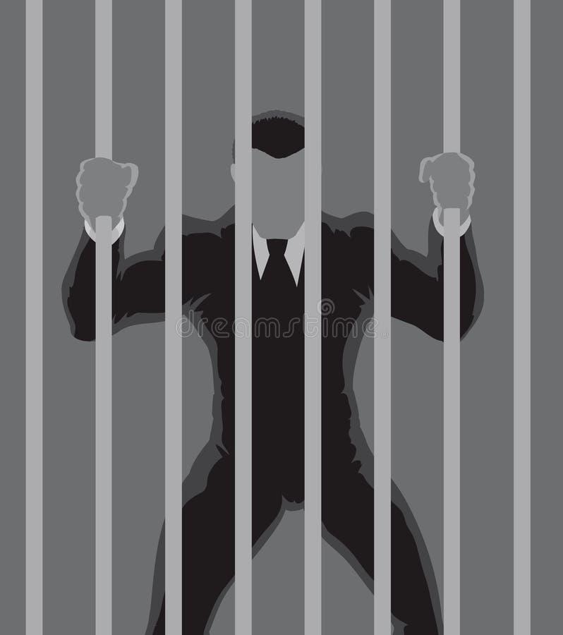 Contour de prisonnier d'affaires illustration de vecteur