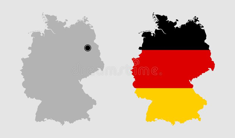 Contour of Germany royalty free stock images
