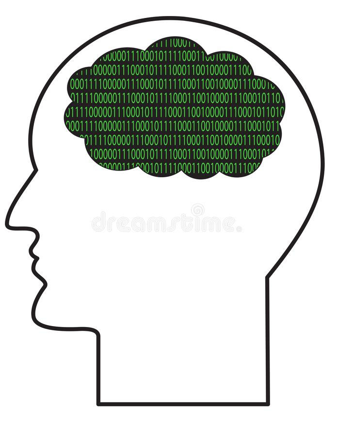 Contour of human head vector illustration