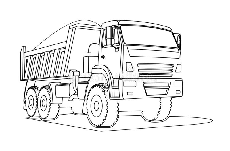 - Dump Truck Coloring Stock Illustrations – 142 Dump Truck Coloring Stock  Illustrations, Vectors & Clipart - Dreamstime