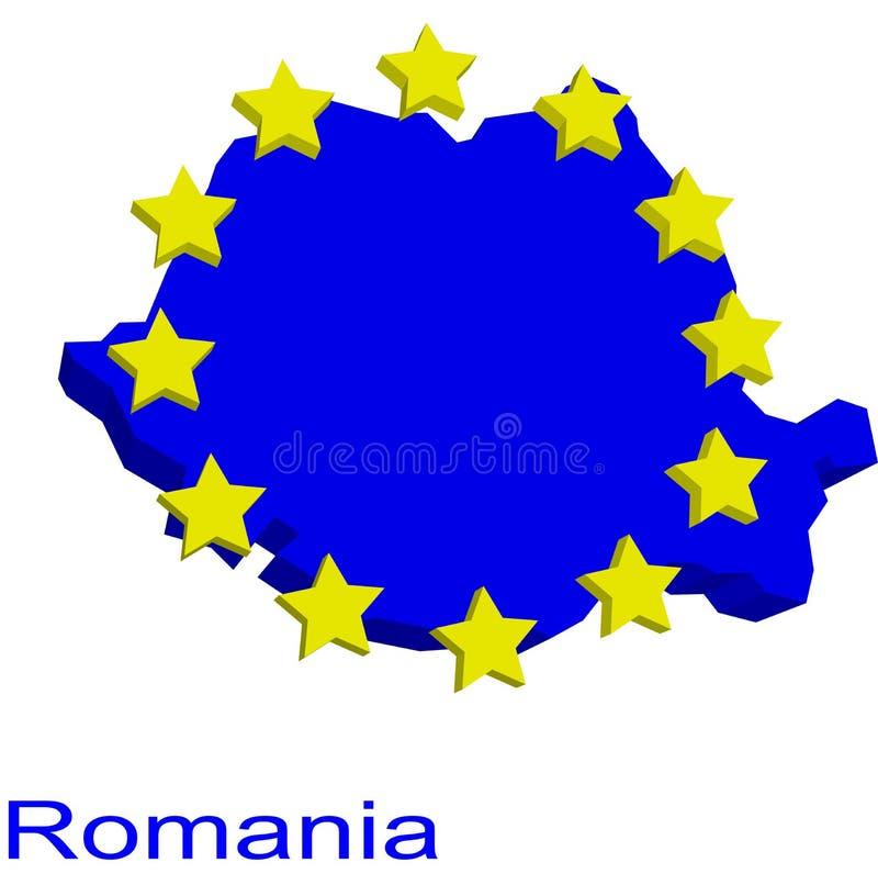 Download Contour map of Romania stock vector. Image of twelve, blue - 4970583