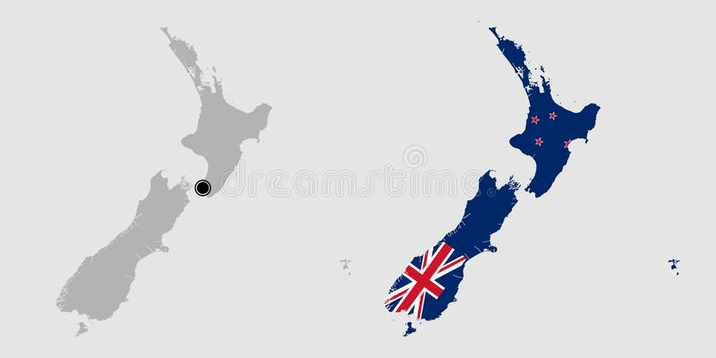 Contour of New Zealand royalty free stock images