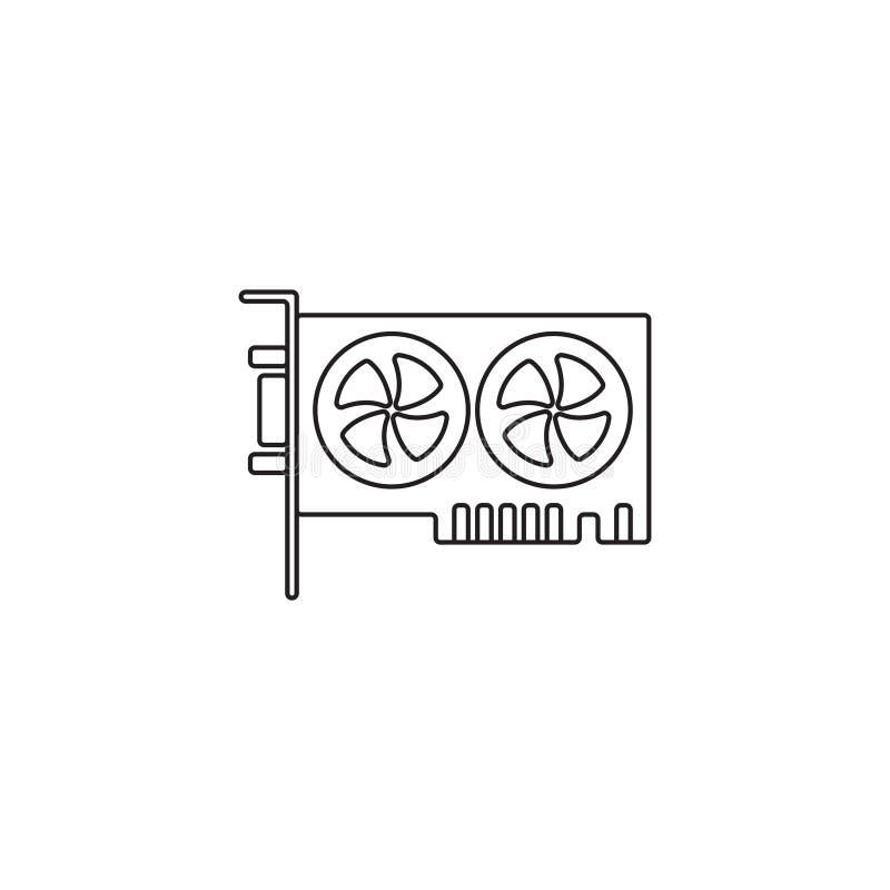 Contour ou ligne illustration d'icône de carte graphique de vecteur de style illustration de vecteur