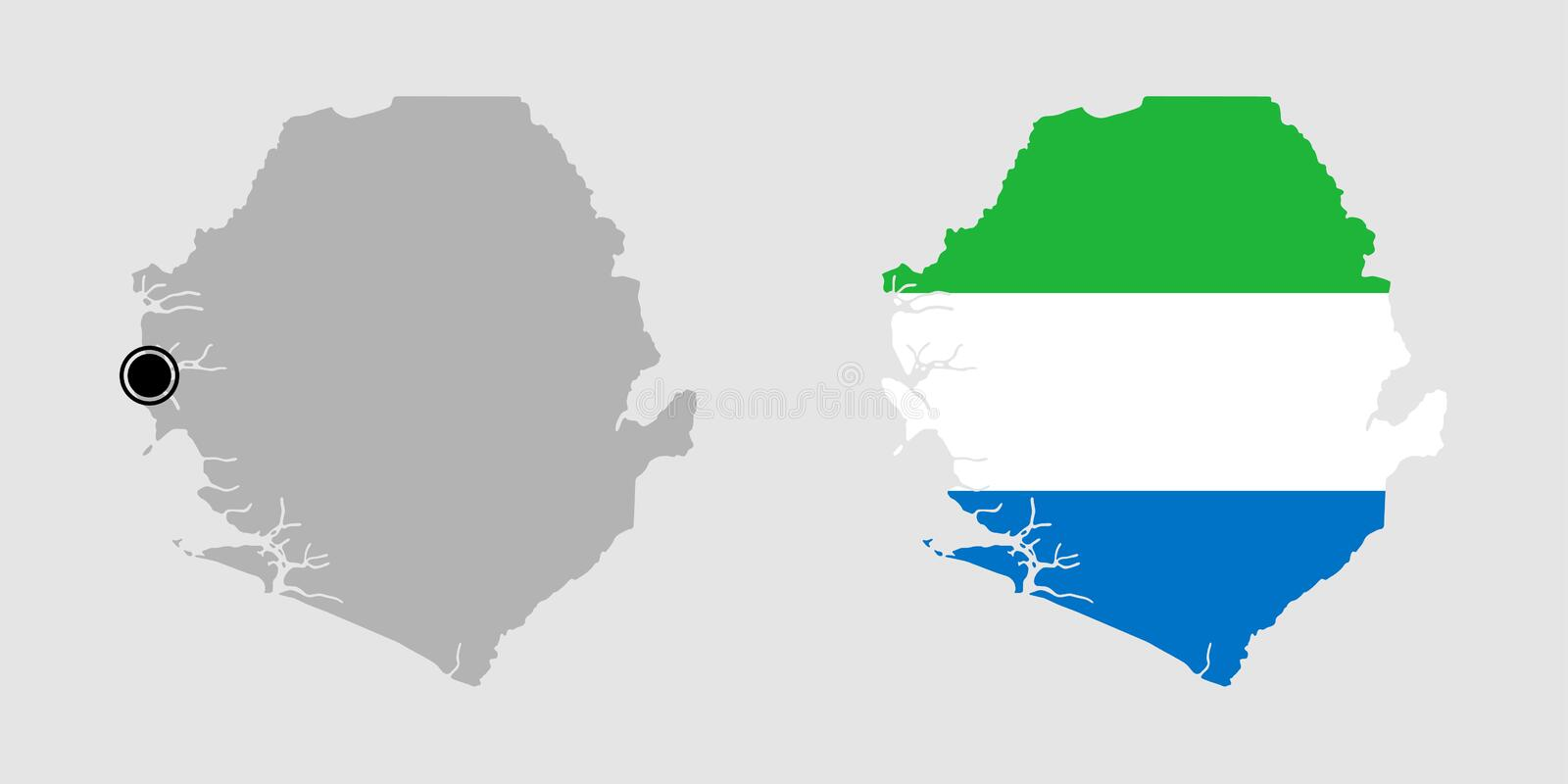 Contour of Sierra Leone royalty free stock images