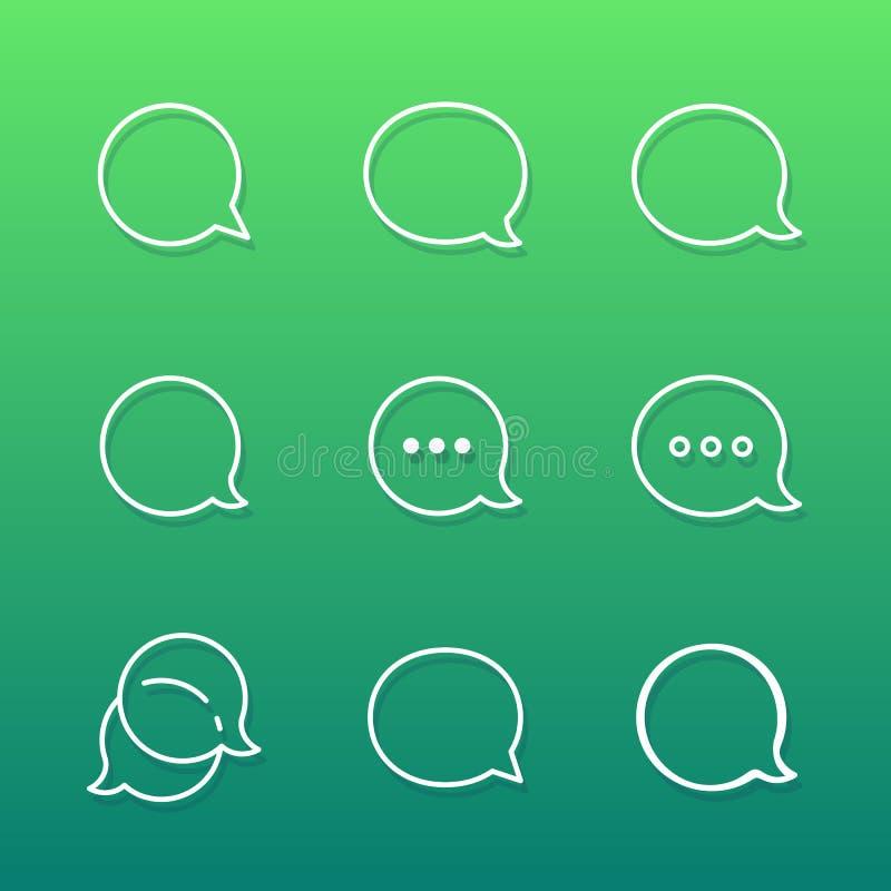 Contour Talk bubble comment and message logo vector illustration