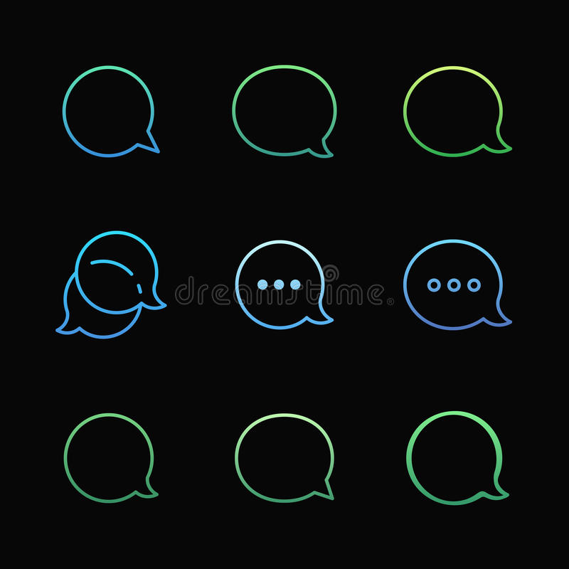 Contour Talk bubble comment and message logo stock illustration
