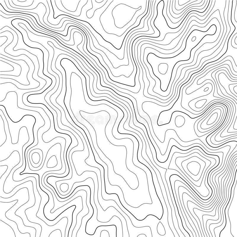 Free Contour Topographic Map. Geographic Grid Map Background. Vector Illustration Stock Photo - 182590190