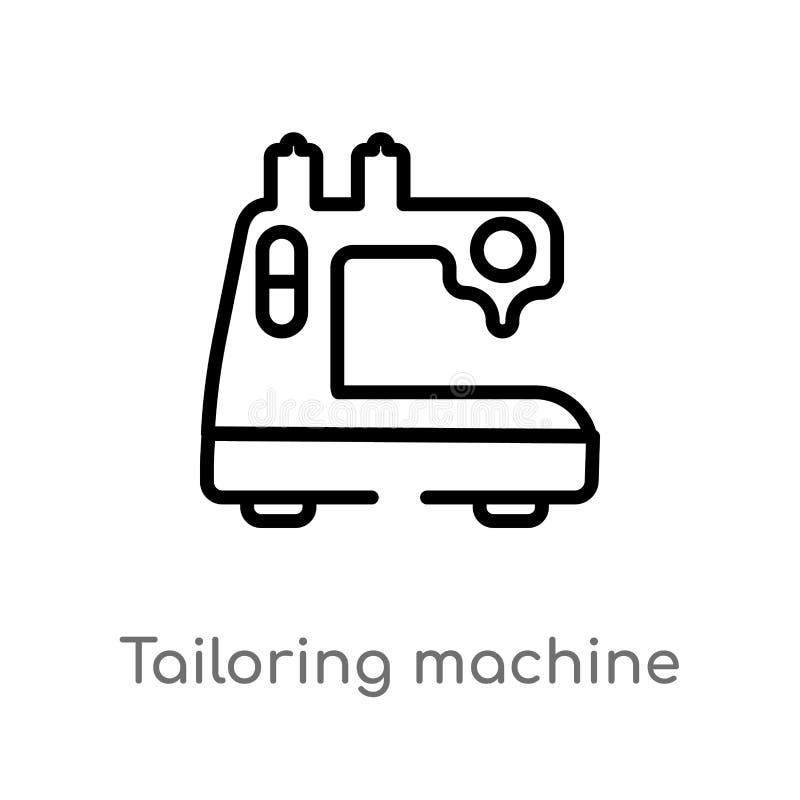 contour travaillant l'ic?ne de vecteur de machine la ligne simple noire d'isolement illustration d'?l?ment de cousent le concept  illustration stock