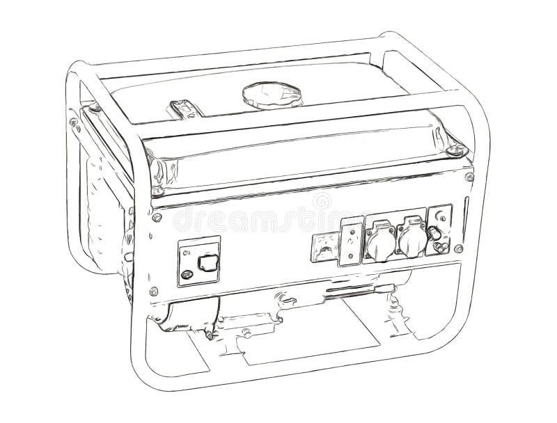 Contours du générateur illustration stock