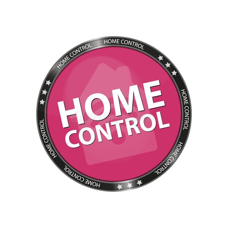 Contrôle à la maison de bouton brillant - édition rose de vecteur - d'isolement sur le fond blanc illustration de vecteur