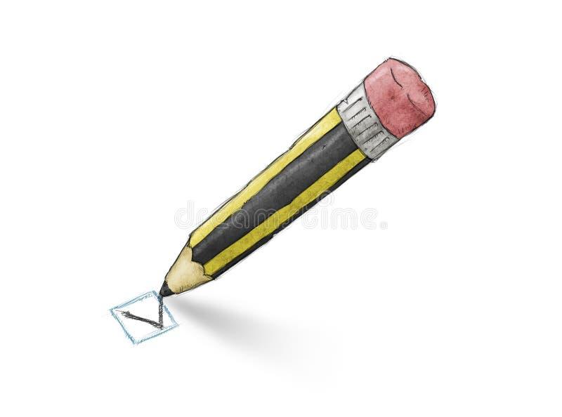 Contrôle de crayon illustration stock