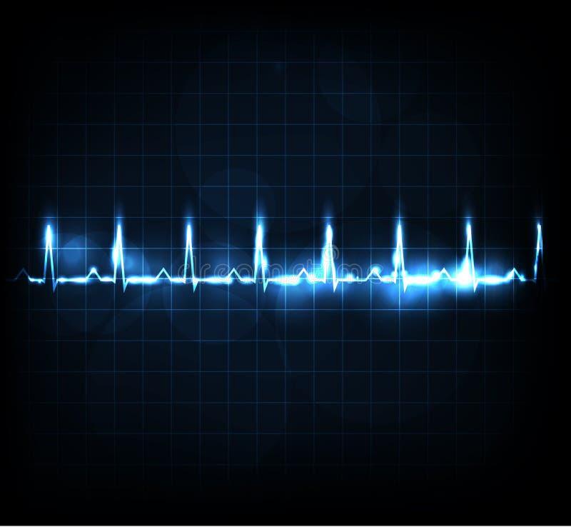 Contrôle de fréquence cardiaque illustration stock