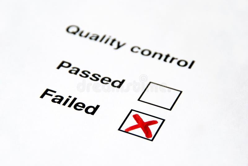 Contrôle de qualité - défailli image libre de droits