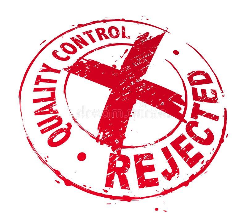 Contrôle de qualité rejeté illustration libre de droits