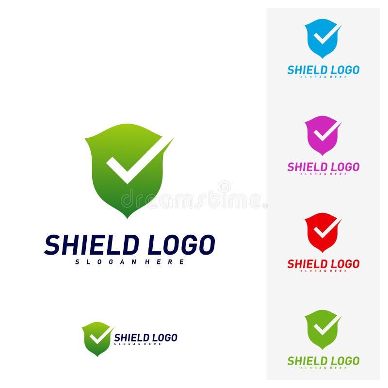 Contrôle Logo Design Concept Vector de bouclier Conception d'illustration de vecteur de qualité de bouclier Symbole d'ic?ne illustration de vecteur