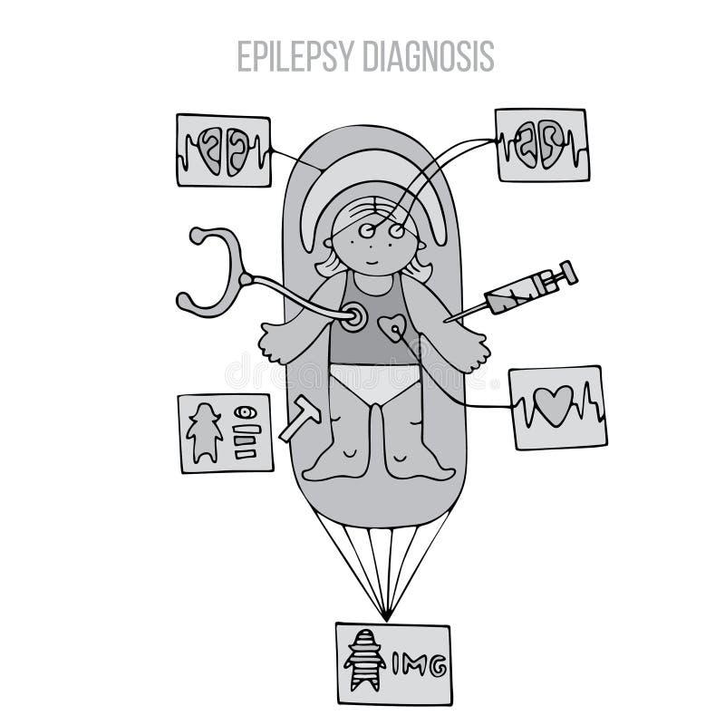 Contrôle médical d'enfants illustration de vecteur