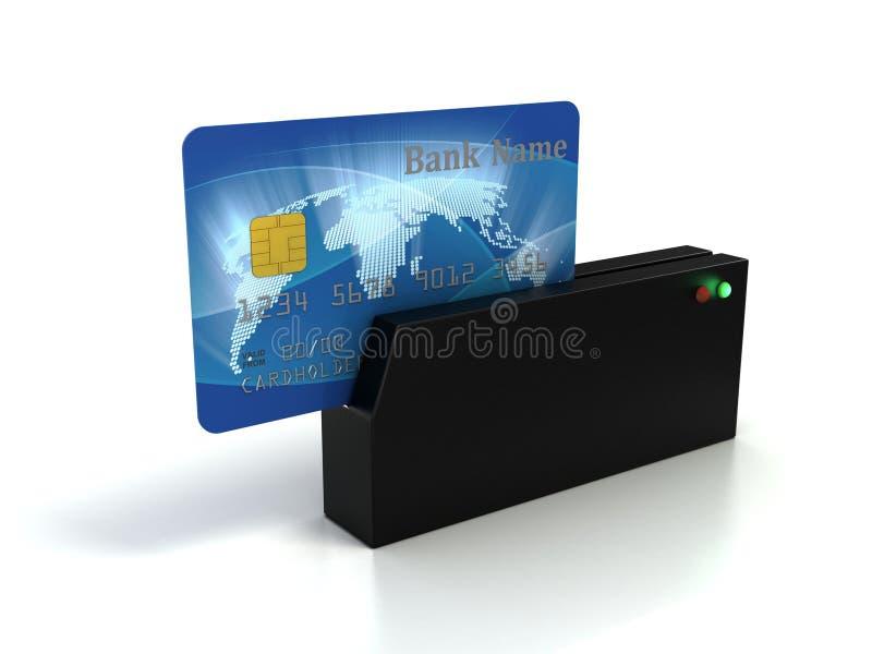 Contrôle par la carte de crédit illustration libre de droits
