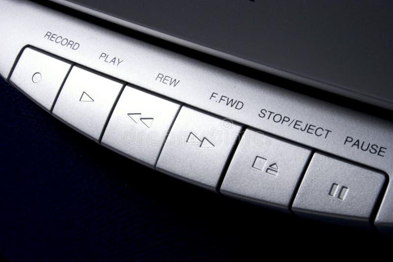 Contrôles d'enregistreur à cassettes image stock