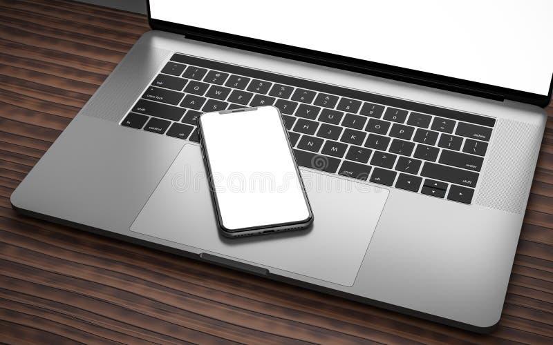 Contrôleur à distance de contact de dispositif numérique de media player de smartphone d'ordinateur portable photo stock