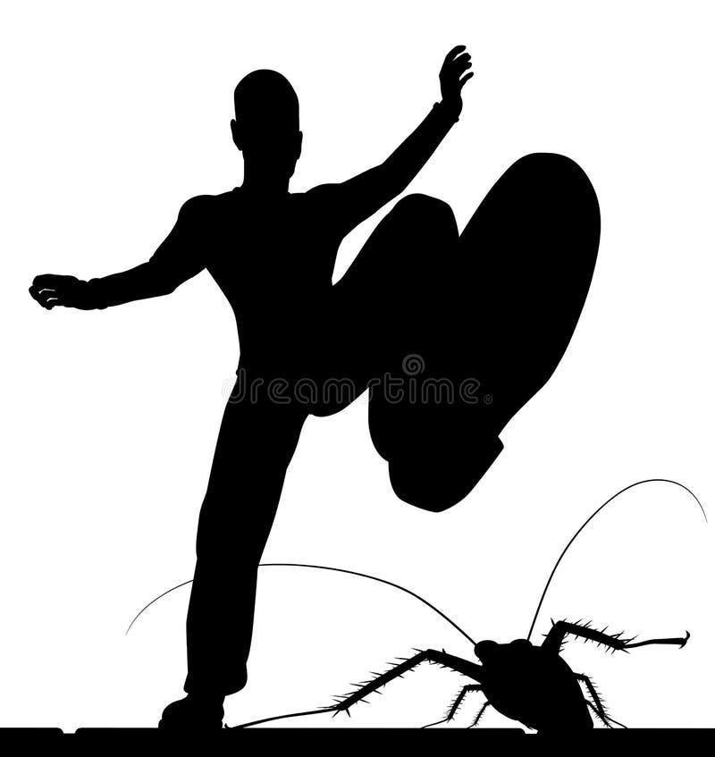 Contrôle d'insecte illustration de vecteur