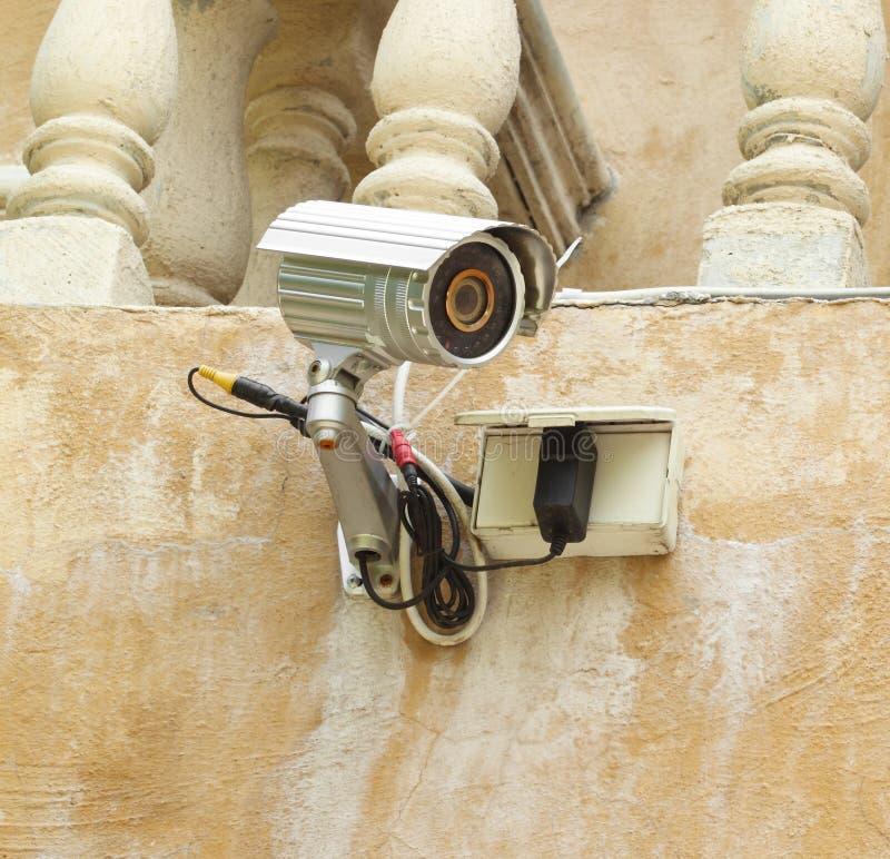 Contrôle de télévision en circuit fermé et de boîte de caméra de sécurité photographie stock