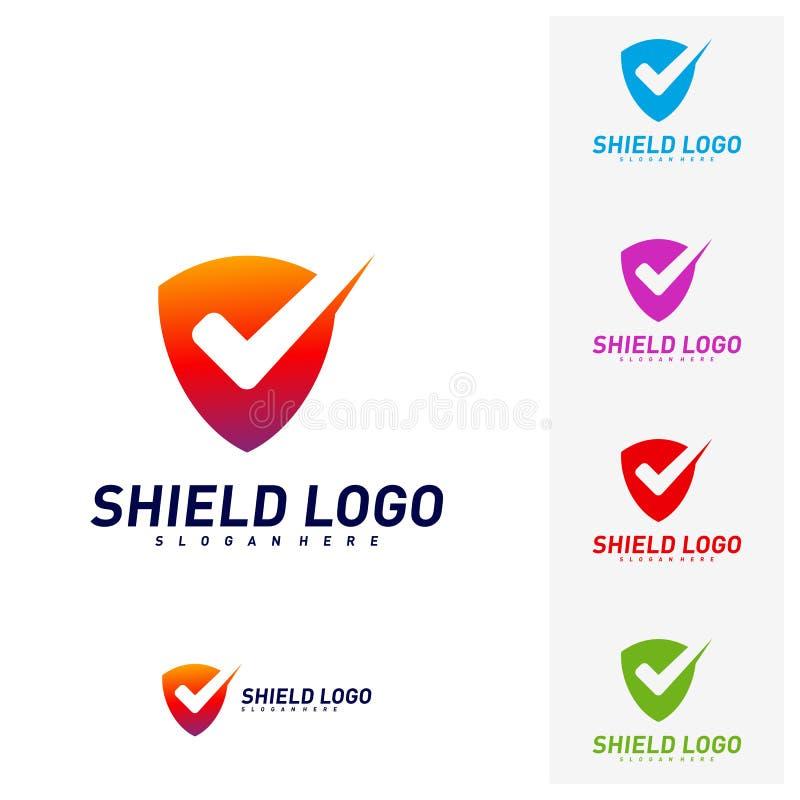 Contr?le Logo Design Concept Vector de bouclier Conception d'illustration de vecteur de qualit? de bouclier Symbole d'ic?ne illustration de vecteur