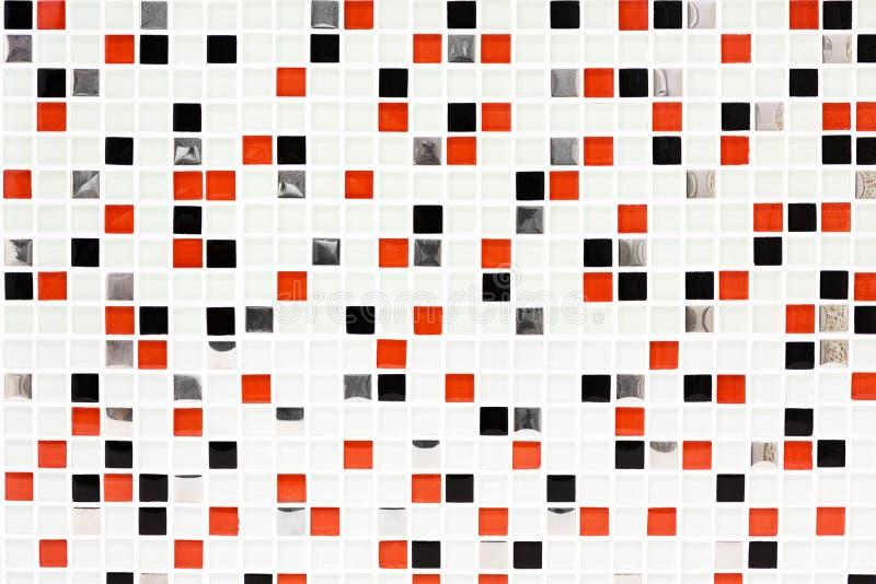 Contrôles à carreaux de fond, de rouge et de noir de tuile de modèle photos stock
