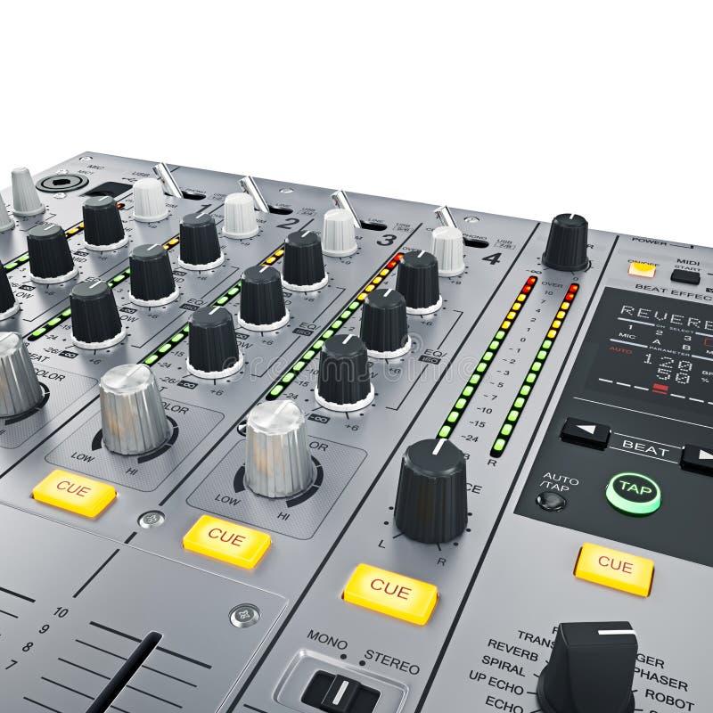 Contrôles de mélangeur du DJ illustration de vecteur