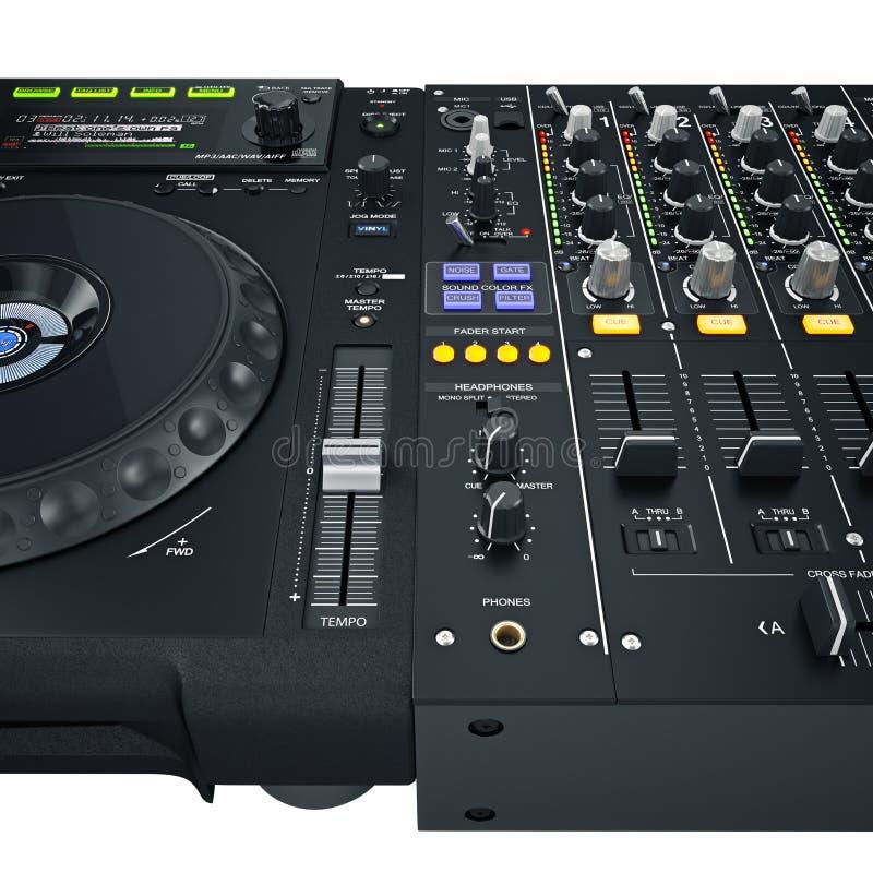 Contrôles réglés du DJ illustration de vecteur