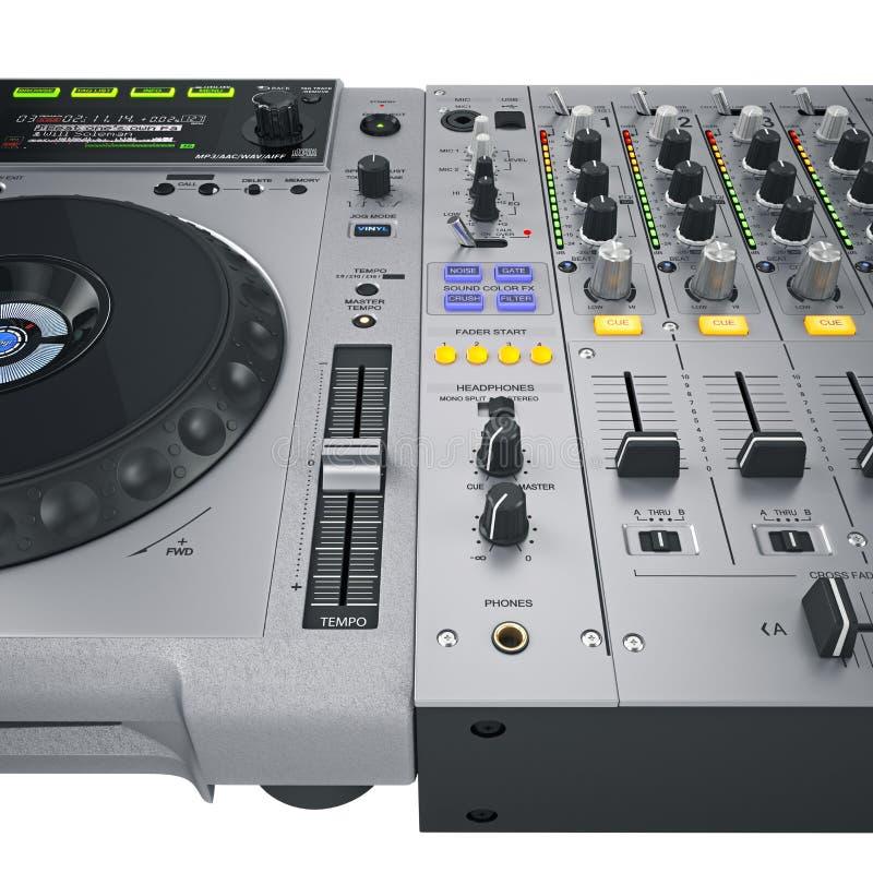 Contrôles réglés du DJ gris illustration de vecteur