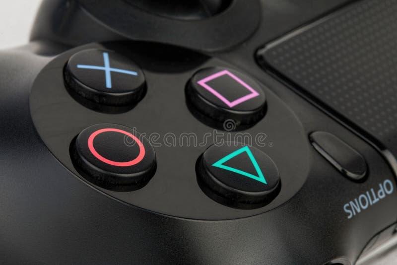 Contrôleur du dualshock 4 de Sony photos libres de droits