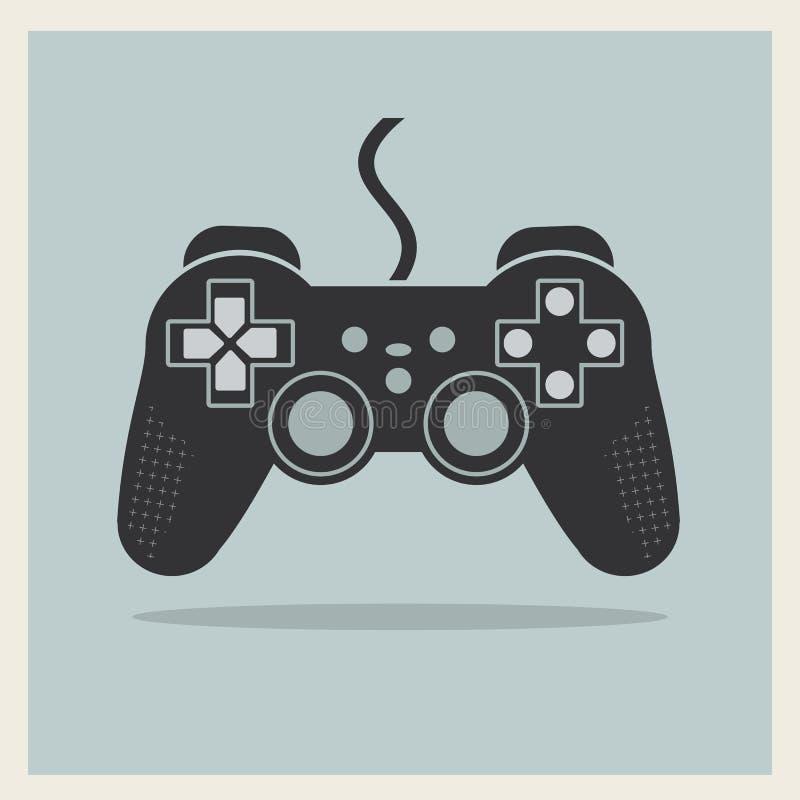 Contrôleur Joystick Vector de jeu vidéo d'ordinateur illustration de vecteur