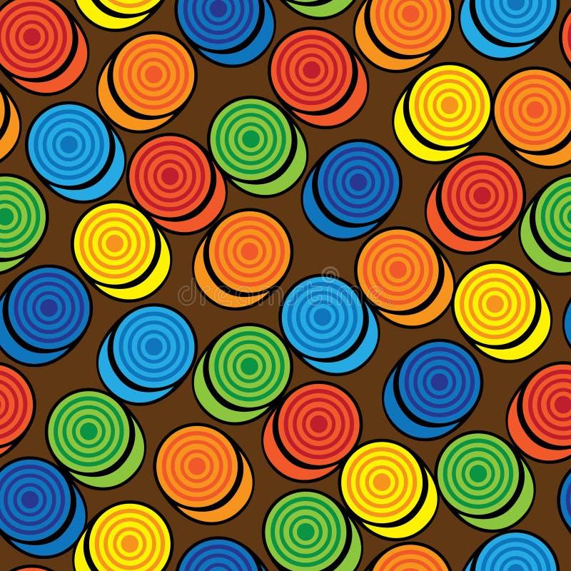 Contrôleurs colorés du modèle sans couture illustration stock