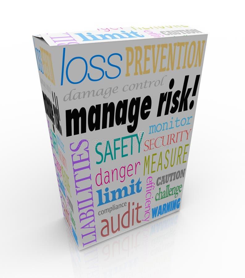 Contrôlez la perte de responsabilité de limite de sécurité de degré de sécurité de boîte de paquet de risque illustration libre de droits