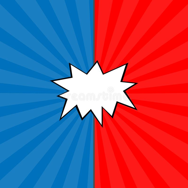 Contra el ejemplo de la lucha de las letras Contexto del vector Fondo decorativo con el explosivo de la bomba en estilo del arte  stock de ilustración
