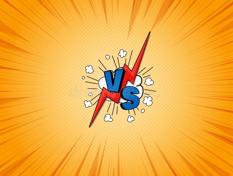 CONTRA el ejemplo de los tebeos ilustración del vector