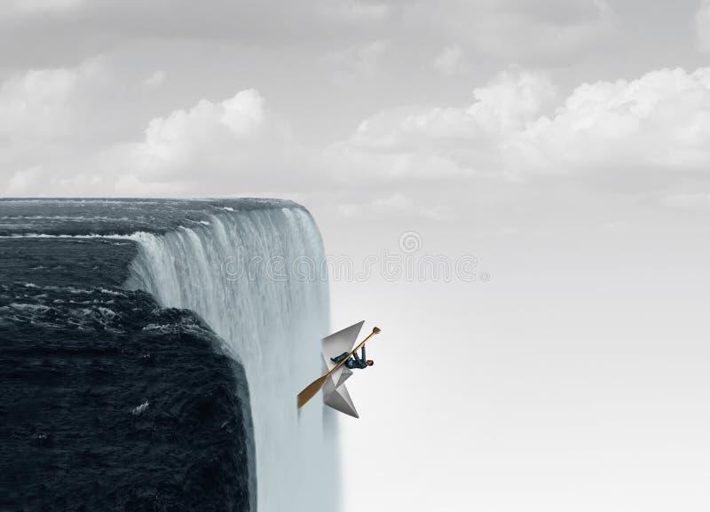 Contra el flujo ilustración del vector