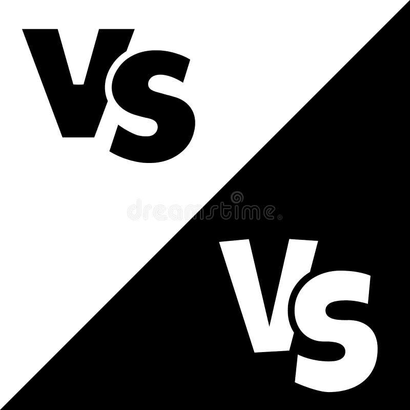 CONTRA contra el icono del logotipo del vector de las letras aislado en el fondo blanco CONTRA contra el símbolo para el concepto stock de ilustración