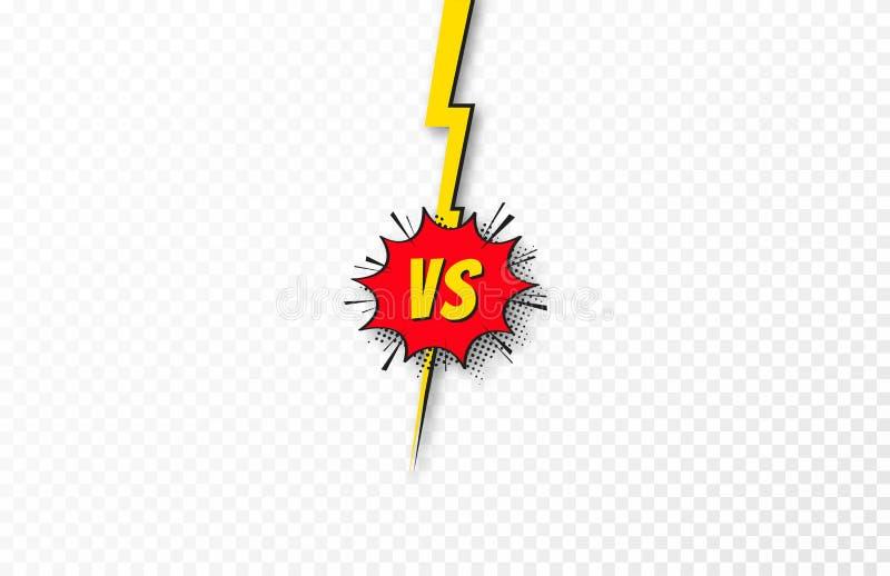Contra fondo, CONTRA letras Concepto de batalla, de lucha, de comparaci?n y de conflicto Contra plantilla del fondo ilustración del vector