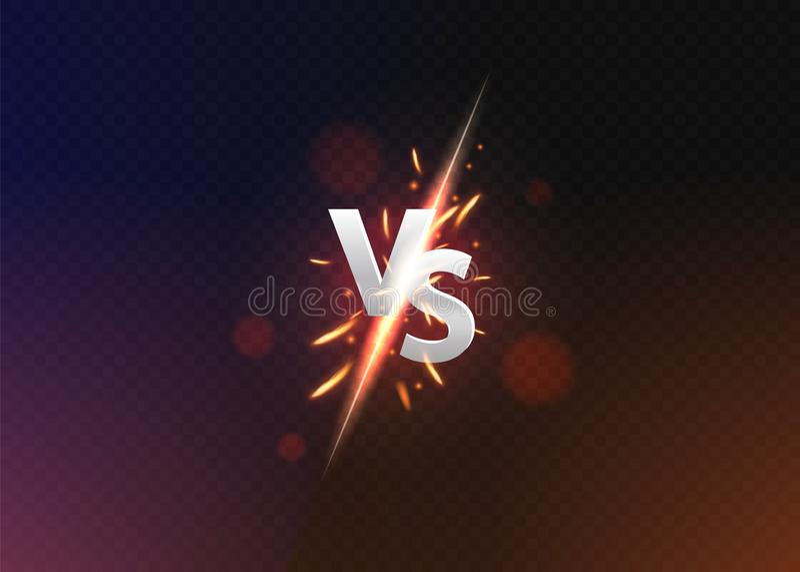 Contra contra fondo Contra logotipo contra las letras para los deportes y la competencia de la lucha Ilustraci?n del vector stock de ilustración