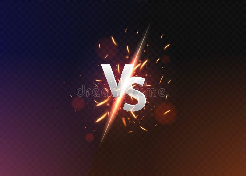 Contra contra fondo Contra logotipo contra las letras para los deportes y la competencia de la lucha Ilustraci?n del vector ilustración del vector