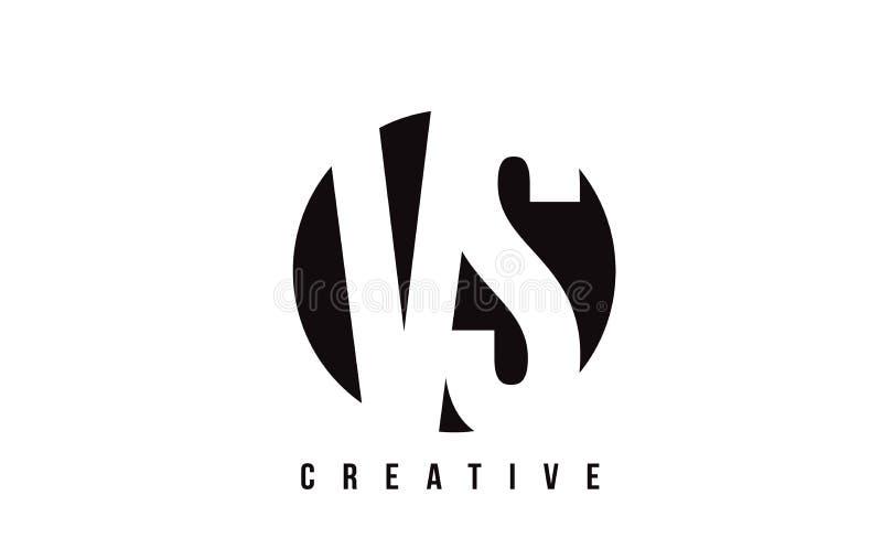 CONTRA a letra branca Logo Design de V S com fundo do círculo ilustração do vetor
