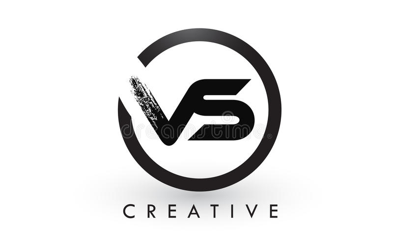 CONTRA a letra Logo Design da escova Logotipo escovado criativo do ícone das letras ilustração do vetor