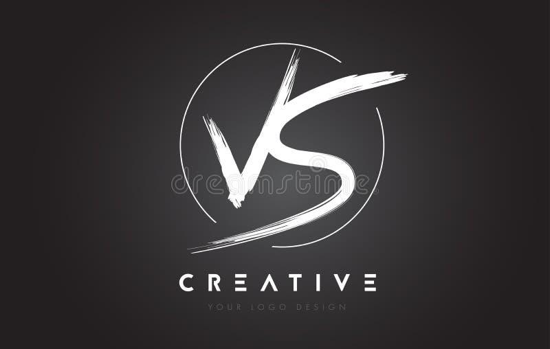 CONTRA a letra Logo Design da escova Logotipo escrito à mão artístico C das letras ilustração royalty free