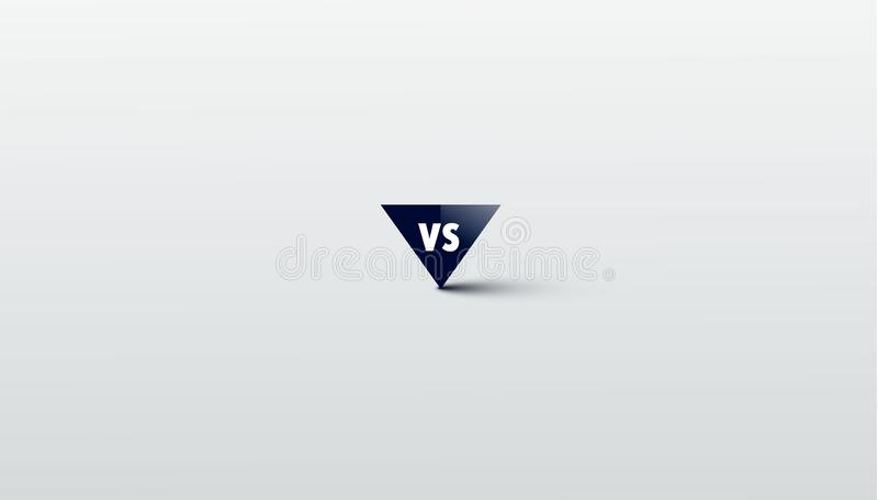 Contra logotipo contra las letras para los deportes y la competencia de la lucha Muttahida Majlis-E-Amal, batalla, contra partido ilustración del vector